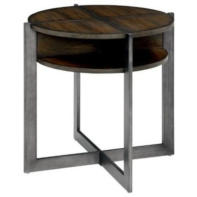 Matilda Contemporary End Table, Dark Oak