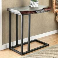 Kya Industrial Design Side Table, Rustic Natural Tone Finish
