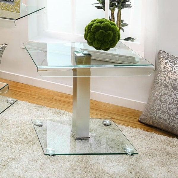 Richfield III Contemporary End Table, Silver