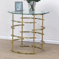 Clonmel Contemporary End Table, Gold