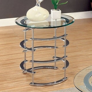 Clonmel Contemporary End Table, Chrome