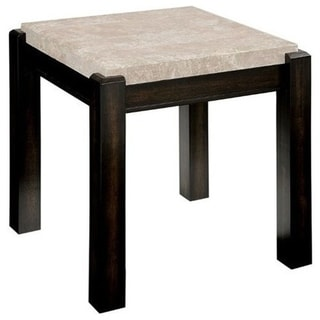 Gladstone End Table Contemporary Style, Ivory