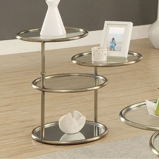 Athlone Contemporary End Table , Champagne