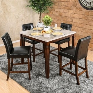 Marstone II Counter Height Table In Brown Cherry Tone