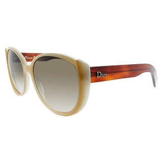 Dior Fashion Summerset 1 T6T Women Beige Havana Frame Brown Lens Sunglasses