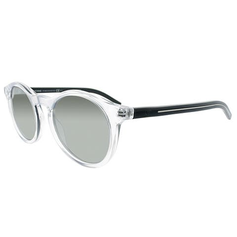 45a7a983a8a3 Dior Round Black Tie 170 S MNG Unisex Crystal Black Frame Silver Mirror  Lens Sunglasses