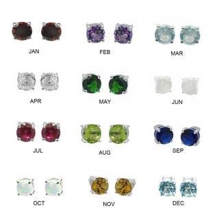 De Buman Sterling Silver Birthstone 5mm Round Gemstone Stud Earrings|https://ak1.ostkcdn.com/images/products/18021364/P24189873.jpg?impolicy=medium