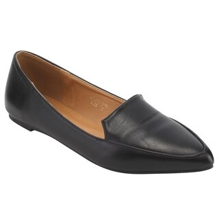 YOKI FL24 Women's Slip On Casual Cut Out Loafer Flats (Options: Black, 5.5)