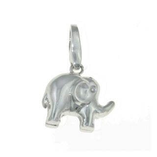 Isla Simone 925 Sterling Silver Elephant Lucky Charm