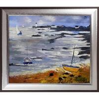 Pol Ledent 'Seascape 675060' Hand Painted Oil Reproduction