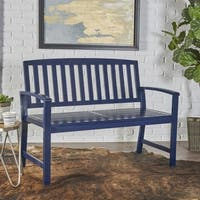 Laurel Farmhouse Cottage Acacia Wood Bench by Christopher Knight Home
