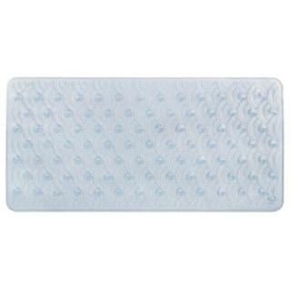 Richards Homewares Scalloped Bath Tub Mat - Extra Long - Machine Washable-Non Slip-Elegant Modern Design