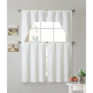 VCNY Home Noelle Lace 4-piece Kitchen Curtain Set (2 options available)