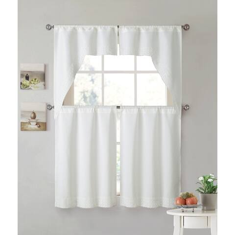 VCNY Home Noelle 4-piece Kitchen Curtain Set