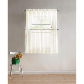 VCNY Home Farrah 4-piece Kitchen Curtain Set
