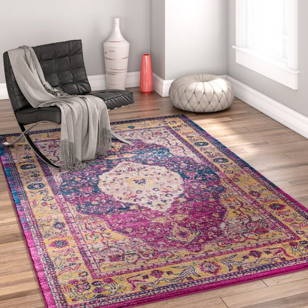 "Well Woven Bohemian Medallion Multicolored Area Rug - 7'10"" x 9'10"""