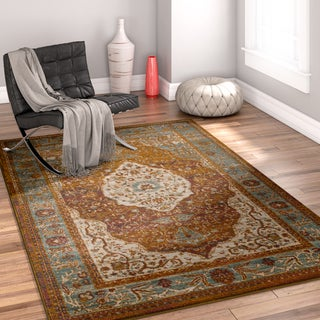 Well Woven Multicolored Bohemian Distressed Area Rug - 7'10 x 9'10