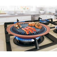 Smokeless Indoor Stovetop Barbecue Grill Free Shipping