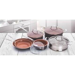10 pcs Copper Cookware Set