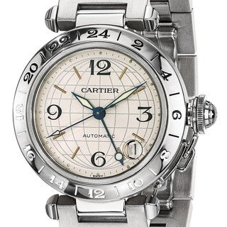 Link to Certified Pre-owned Cartier Mens Pasha C Automatic GMT Watch Similar Items in Men's Watches