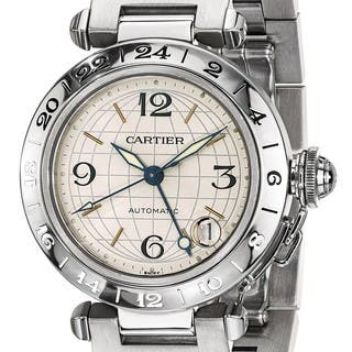 Certified Pre-owned Cartier Mens Pasha C Automatic GMT Watch|https://ak1.ostkcdn.com/images/products/18024350/P24192451.jpg?impolicy=medium