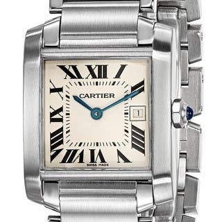Certified Pre-owned Cartier Midsize Tank Francaise Watch|https://ak1.ostkcdn.com/images/products/18024354/P24192450.jpg?impolicy=medium