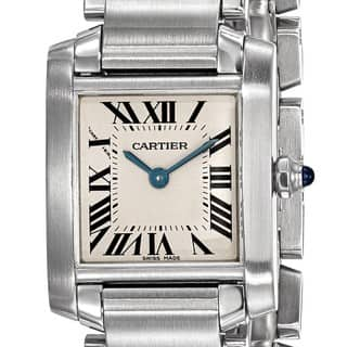 Certified Pre-owned Cartier Ladies Tank Francaise Watch|https://ak1.ostkcdn.com/images/products/18024359/P24192457.jpg?impolicy=medium