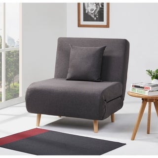 Vista Charcoal Convertible Chair Bed
