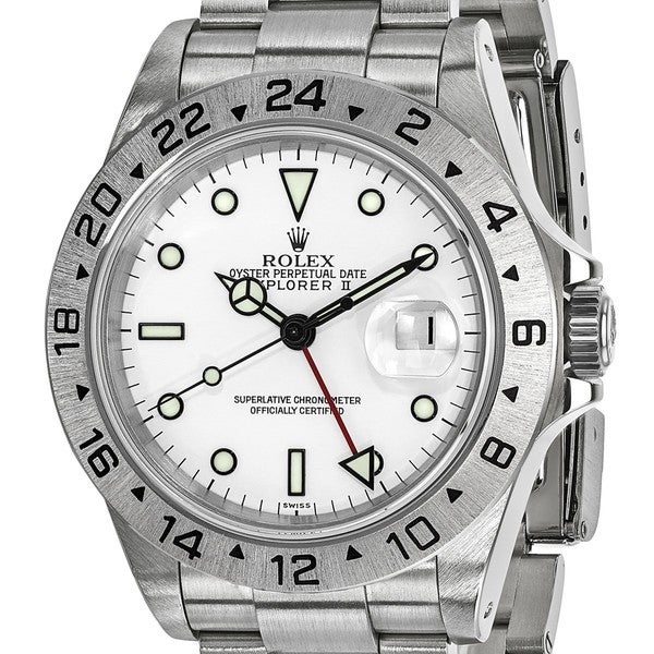 c0604f33eb51 Shop Certified Pre-owned Rolex Steel Mens Explorer II White Dial ...
