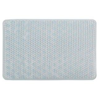 Richards Homewares Blue Lattice Bath/Shower Mat -Natural-Themed, Ultra-Durable, Non-Slip Mildew-Resistant Bath Rug