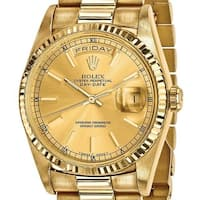 Quality Pre-owned Rolex 18 Karat Yellow Gold Mens Day-Date Presidential Watch