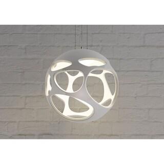 Ekon Chrome Metal 21-inch Pendant Lamp