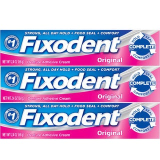 Fixodent Complete 2.4-ounce Original Dental Adhesive Cream (Pack of 3)