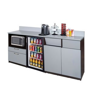 Coffee Break Room Cabinets ASSEMBLED Model O4P0A3L0S 2pc EspressoGray