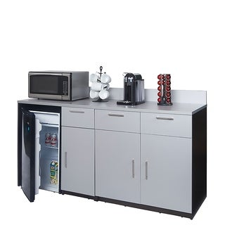 Coffee Break Room Cabinets ASSEMBLED Model O4P0A2L0S 2pc EspressoGray