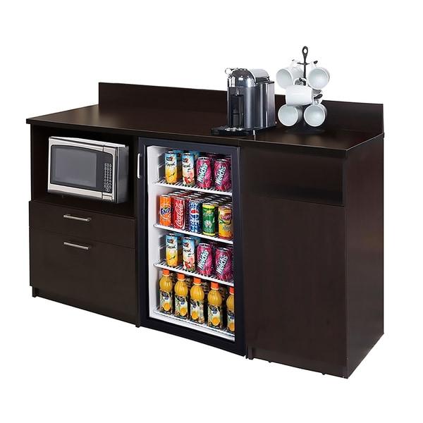 Coffee Break Room Cabinets ASSEMBLED Model O4P0A2L7S 2pc Espresso