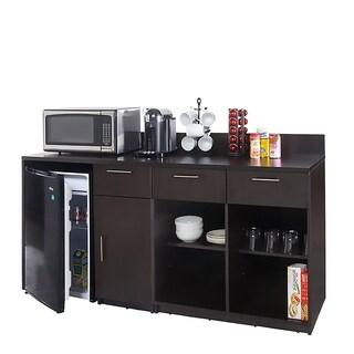 Coffee Break Room Cabinets ASSEMBLED Model O4P0A1L7S 2pc Espresso