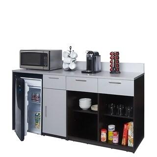 Coffee Break Room Cabinets ASSEMBLED Model O4P0A1L8S 2pc EspressoGray