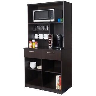 Coffee Break Room Cabinets ASSEMBLED Model O4P0A3L1S 2pc Espresso