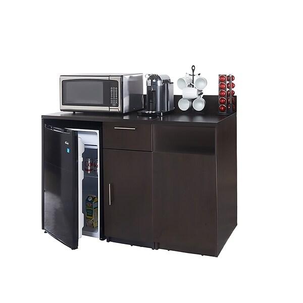 Coffee Break Room Cabinets ASSEMBLED Model O4P0A1L5S 2pc Espresso