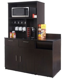 Coffee Break Room Cabinets ASSEMBLED Model O4P0A5L7S 3pc Espresso