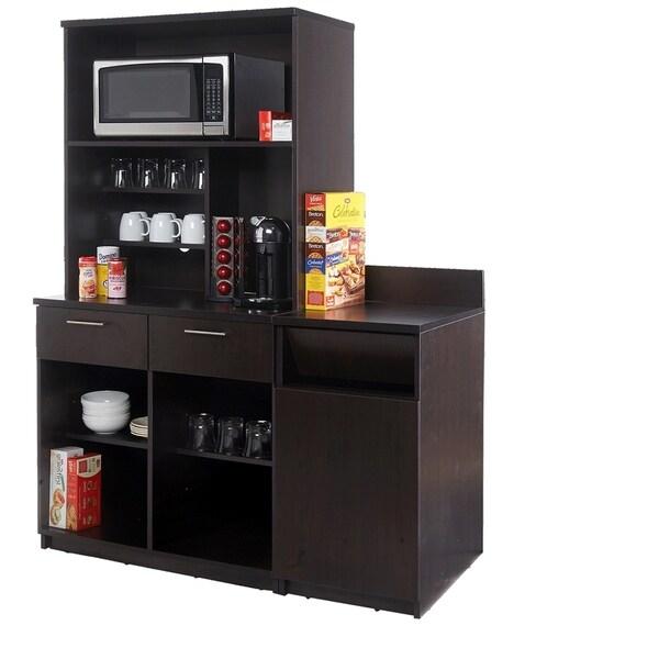 Coffee Break Room Cabinets ASSEMBLED Model O4P0A6L5S 3pc Espresso