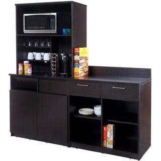 Coffee Break Room Cabinets ASSEMBLED Model O4P0A6L1S 3pc Espresso