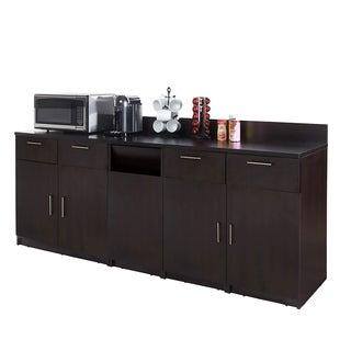 Coffee Break Room Cabinets ASSEMBLED Model O4P0A4L1S 3pc Espresso