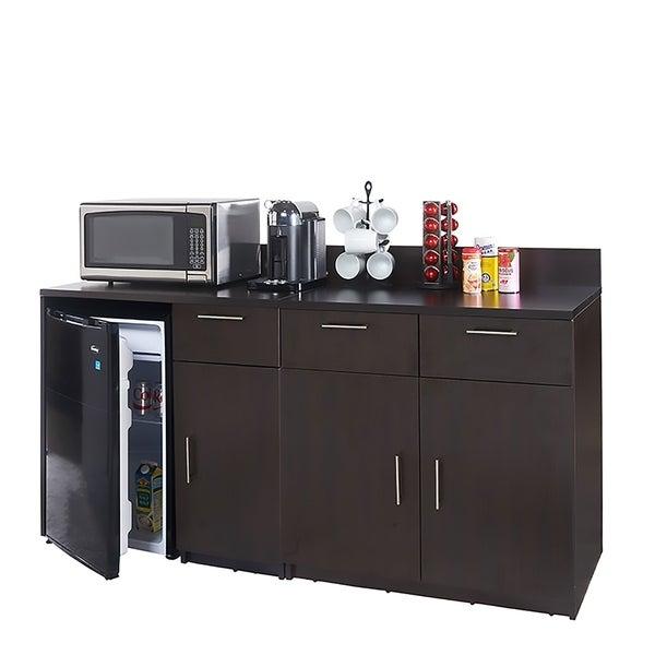 Coffee Break Room Cabinets ASSEMBLED Model O4P0A1L9S 2pc Espresso