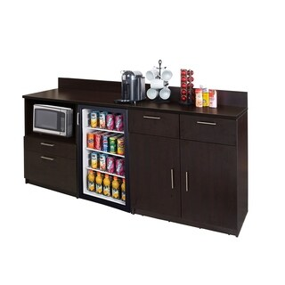 Coffee Break Room Cabinets ASSEMBLED Model O4P0A2L5S 2pc Espresso