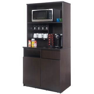 Coffee Break Room Cabinets ASSEMBLED Model O4P0A3L5S 2pc Espresso