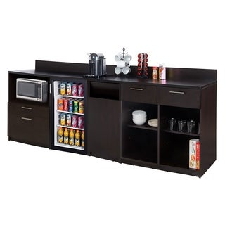 Coffee Break Room Cabinets ASSEMBLED Model O4P0A4L9S 3pc Espresso