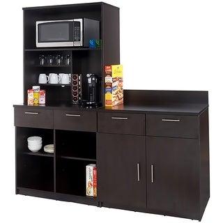 Coffee Break Room Cabinets ASSEMBLED Model O4P0A5L9S 3pc Espresso