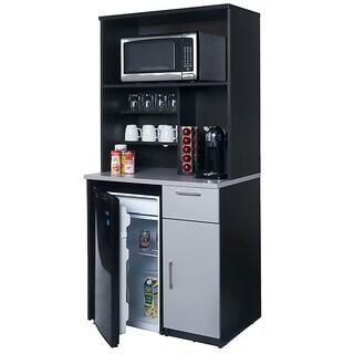 Coffee Break Room Cabinets ASSEMBLED Model O4P0A3L4S 2pc EspressoGray